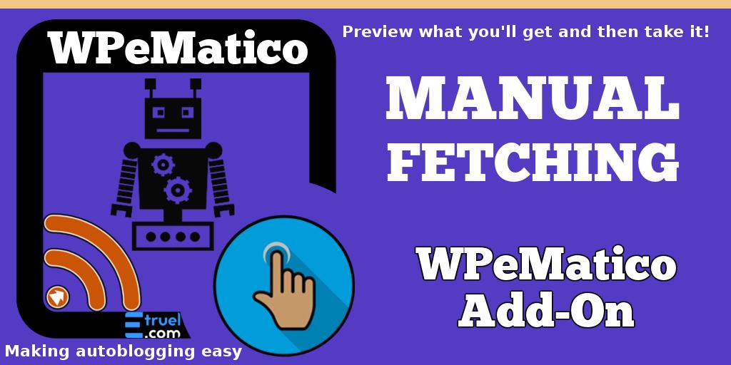wpematico manual fetching